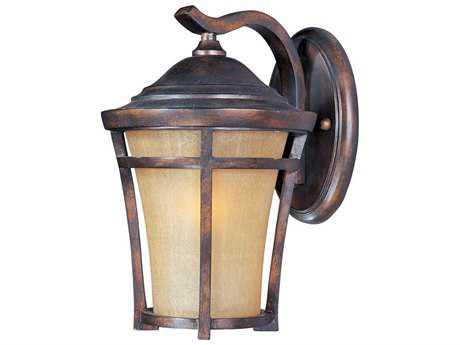 Maxim Lighting Balboa Copper Oxide & Golden Frost Glass 10'' Wide LED Outdoor Wall Light