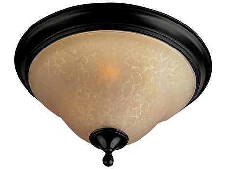 Maxim Lighting Linda Oil Rubbed Bronze & Wilshire Glass Three-Light 16'' Wide Fluorescent Flush Mount Light