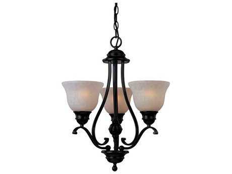 Maxim Lighting Linda EE Oil Rubbed Bronze Three-Light 19 Wide Chandelier