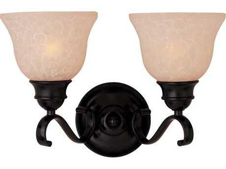 Maxim Lighting Linda EE Oil Rubbed Bronze Two-Light Vanity Light with Wilshire Glass