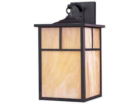 Maxim Lighting Coldwater Burnished & Honey Glass 9'' Wide Fluorescent Outdoor Wall Light
