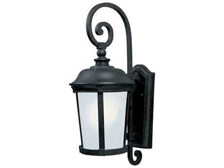 Maxim Lighting Dover Bronze & Frosted Seedy Glass 10'' Wide Fluorescent Outdoor Wall Light
