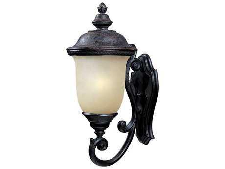 Maxim Lighting Carriage House Oriental Bronze & Mocha Glass 12.5'' Wide Fluorescent Outdoor Wall Light