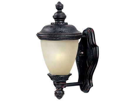 Maxim Lighting Carriage House Oriental Bronze & Mocha Glass 6'' Wide Fluorescent Outdoor Wall Light