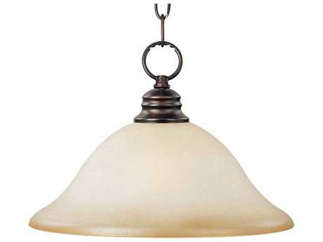 Maxim Lighting Essentials-9106x Oil Rubbed Bronze & Wilshire Glass 16'' Wide Pendant Light