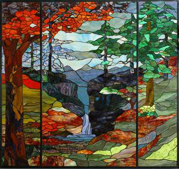 Meyda Tiffany River of Life Stained Glass Window