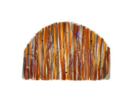 Meyda Tiffany Marina Sun Fused Glass Wall Art