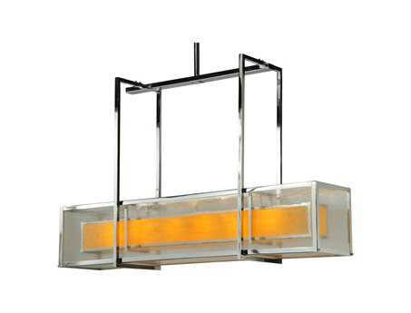 Meyda Tiffany Quadrato Lange Six-Light Oblong Pendant Light