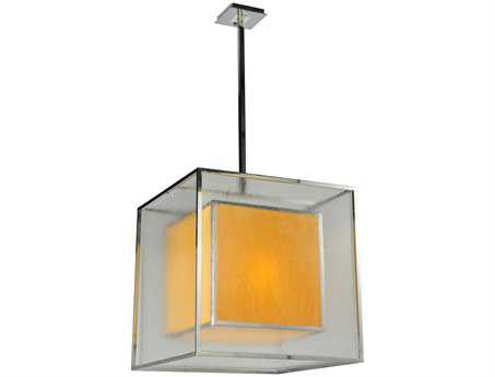 Meyda Tiffany Quadrato Lange Three-Light Pendant Light