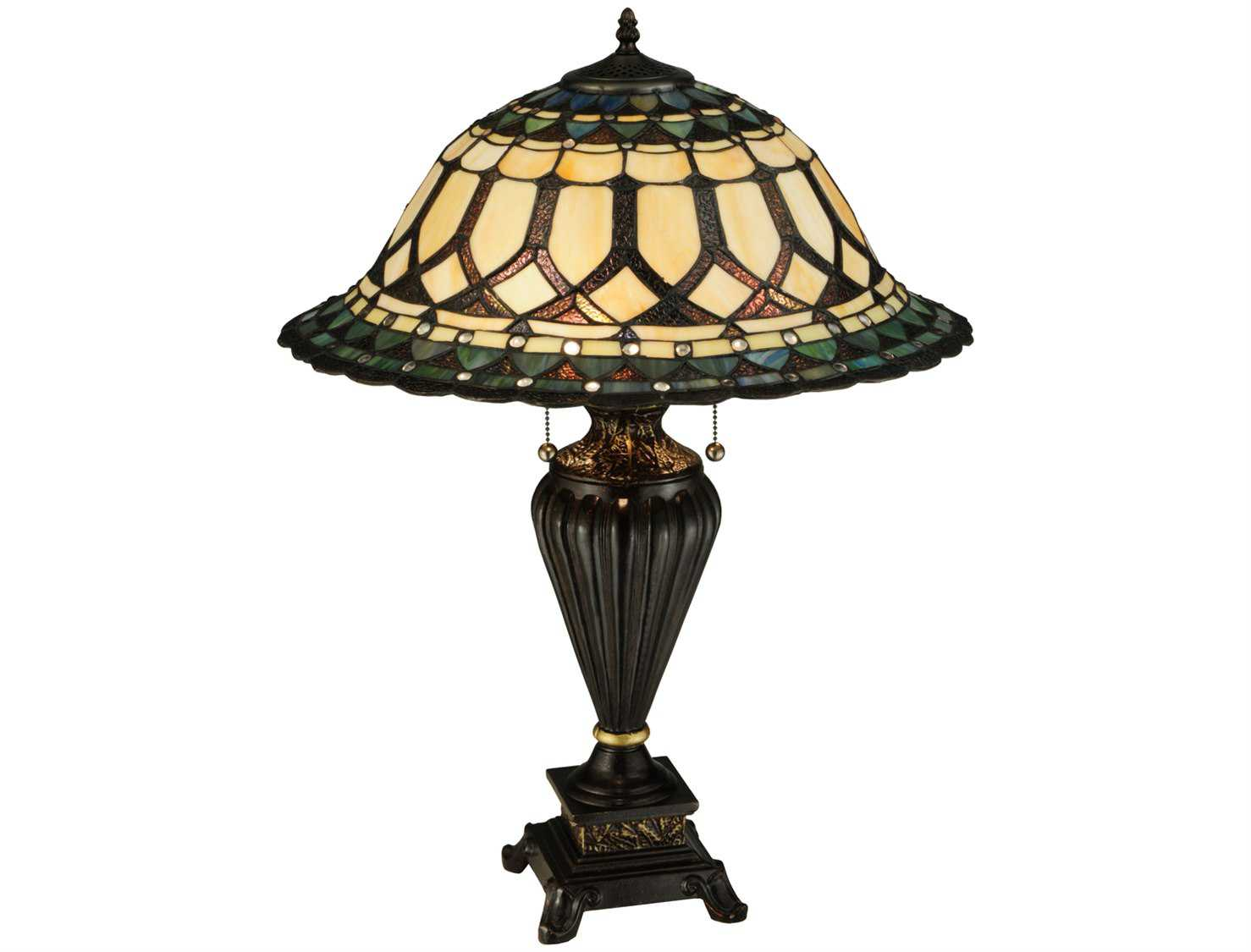 meyda tiffany aello multi color table lamp 134536. Black Bedroom Furniture Sets. Home Design Ideas