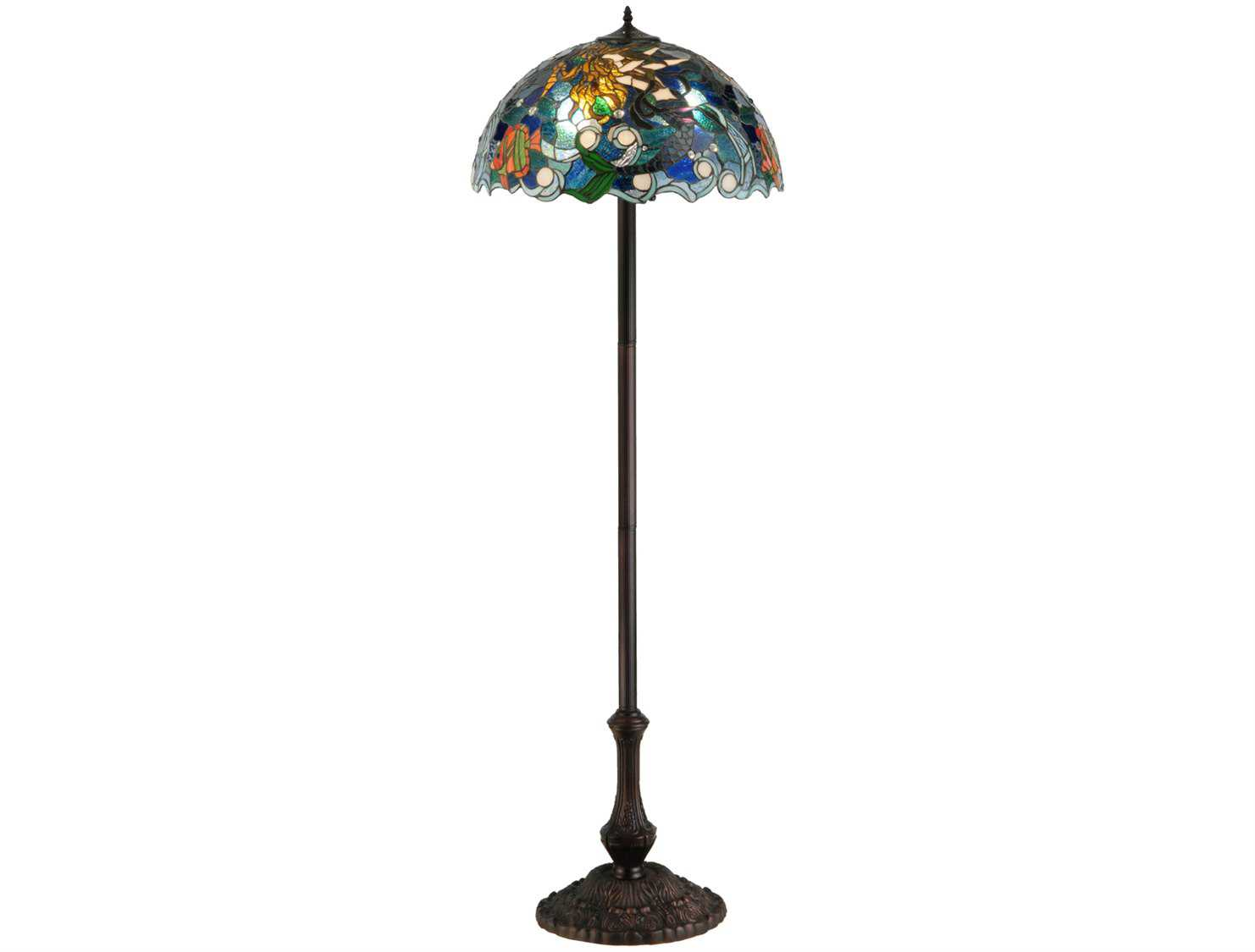 meyda tiffany mermaid of the sea multi color floor lamp 139888. Black Bedroom Furniture Sets. Home Design Ideas