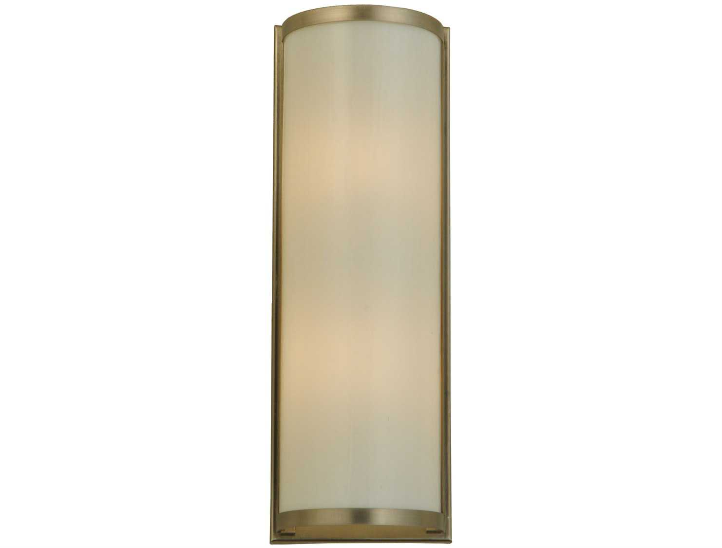 Meyda Tiffany Half Cylinder White Two Light Wall Sconce 139938