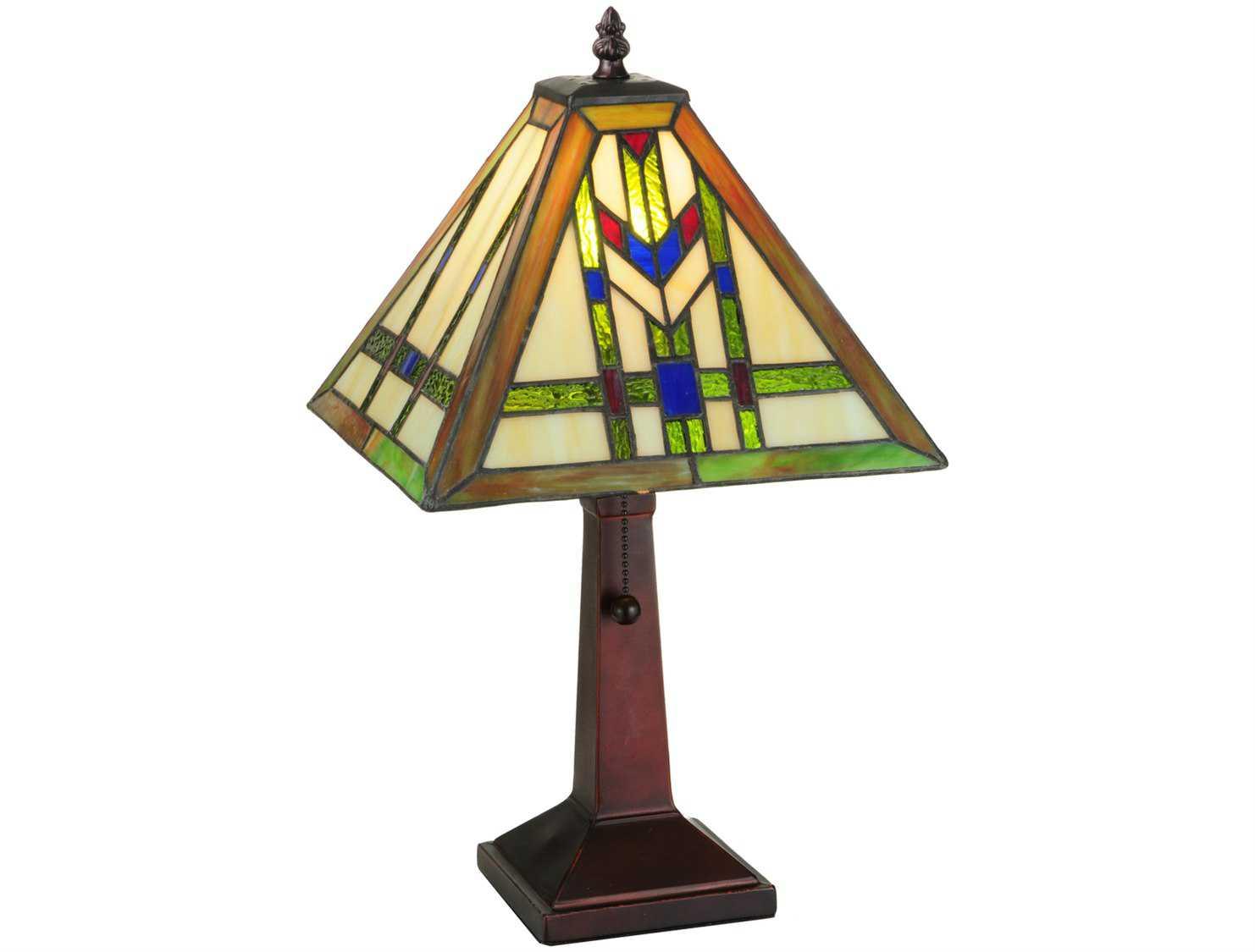 Meyda Tiffany Prairie Wheat Multi Color Table Lamp 139973