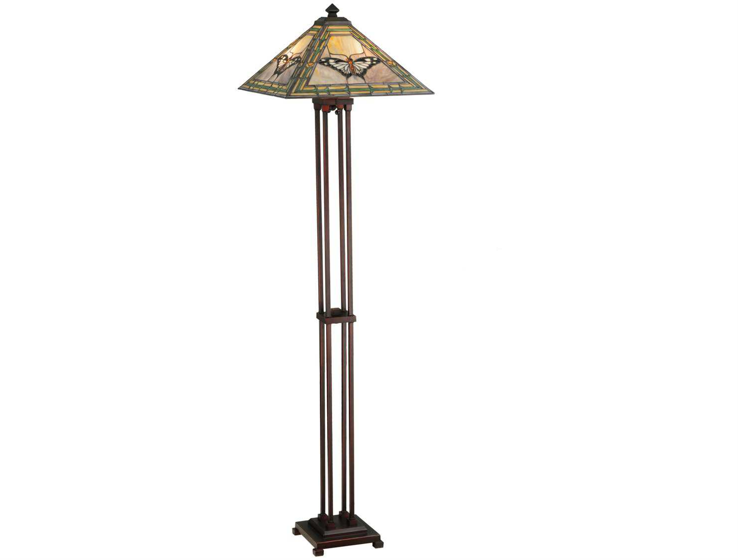 Meyda Tiffany Butterfly Multi Color Floor Lamp 140025