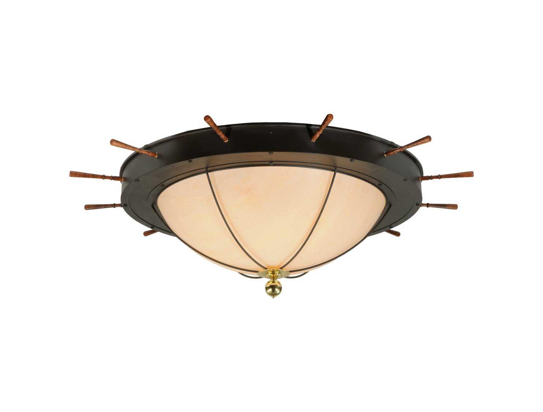 meyda tiffany nautical 12 light flush mount light 140743. Black Bedroom Furniture Sets. Home Design Ideas