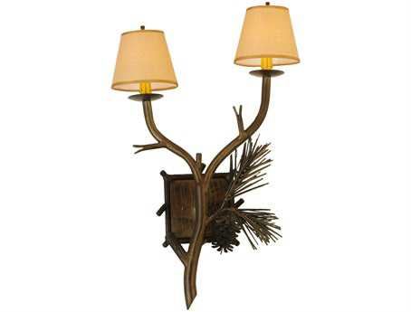 Meyda Tiffany Lone Pine Two-Light Wall Sconce