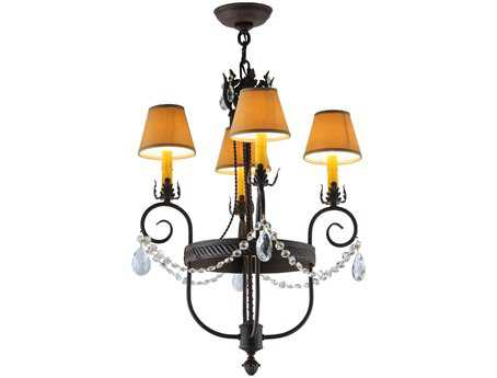 Meyda Tiffany Antonia Four-Light 19 Wide Mini Chandelier