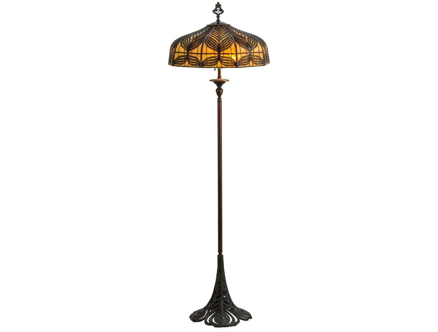 meyda tiffany original handel peacock multi color floor. Black Bedroom Furniture Sets. Home Design Ideas