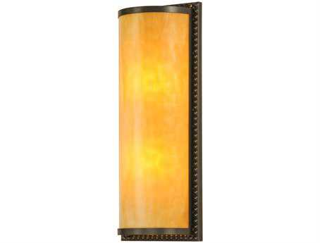 Meyda Tiffany Half Cylinder Beige Two-Light Outdoor Wall Light