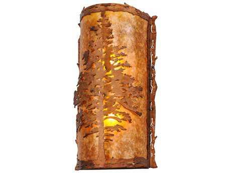 Meyda Lighting Tamarack Vintage Copper LED 9.5'' Wide Wall Sconce