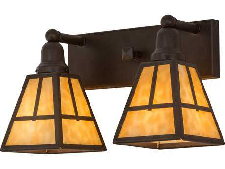 Meyda Lighting T Mission Cafe Noir Two-Light Wall Sconce