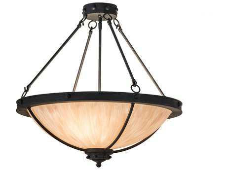 Meyda Lighting Freya Costello Black 24'' Wide Semi-Flush Mount