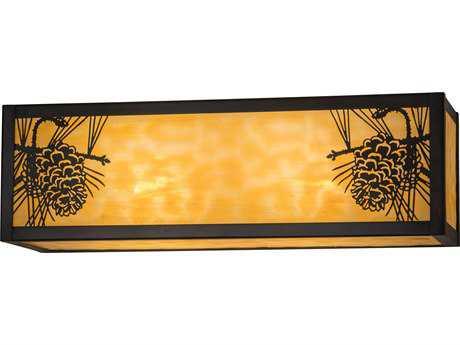 Meyda Lighting Winter Pine Beige Craftsman 16'' Wide Vanity Light