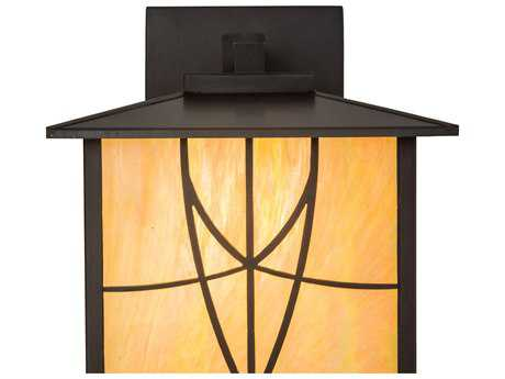 Meyda Lighting Scottsdale Mission Bai Ha Craftsman Brown 12.5'' Wide Wall Sconce
