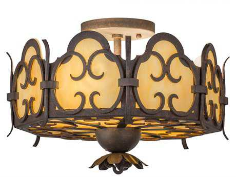 Meyda Lighting Radha Cajun Spice 14'' Wide Flush Mount Light