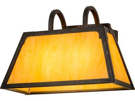 Meyda Lighting Dalton Copper Rust Two-Light 14'' Wide Wall Sconce