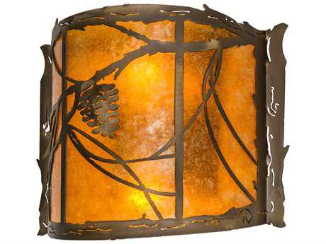 Meyda Lighting Whispering Pines Antique Copper 12'' Wide Wall Sconce