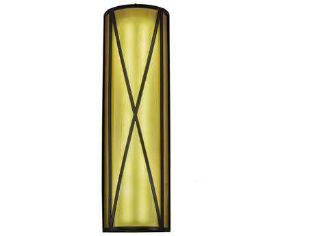 Meyda Lighting Diamond Mission Timeless Bronze 7'' Wide Wall Sconce