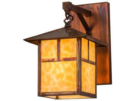 Meyda Lighting Seneca ''T'' Mission Beige Vintage Copper Wall Sconce