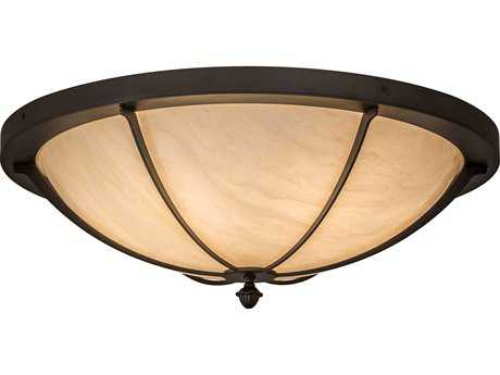 Meyda Lighting Dominga Oil Rubbed Bronze 30'' Wide Flush Mount