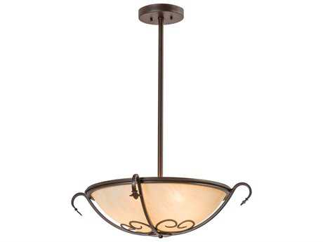 Meyda Lighting Alaine Cafe Noir Carmel 24'' Wide Semi-Flush Mount