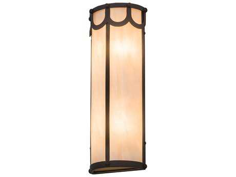Meyda Lighting Carousel Oil Rubbed Bronze 8'' Wide Wall Sconce