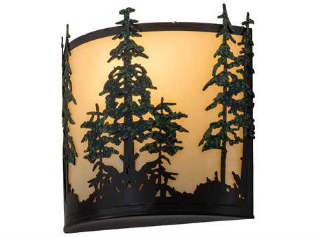 Meyda Lighting Tall Pines Timeless Bronze Two-Light 12'' Wide Wall Sconce