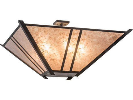 Meyda Lighting Arta Chestnut Silver 68'' Wide Pendant Light