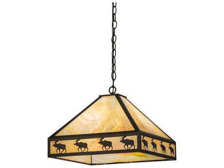 Meyda Lighting Moose on the Loose Craftsman Bai Pendant Light