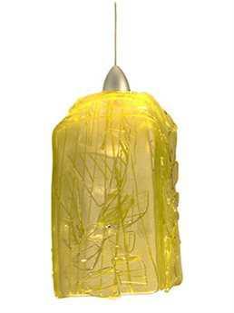 Meyda Tiffany Metro Fusion Lemon Taffy Draped Mini-Pendant