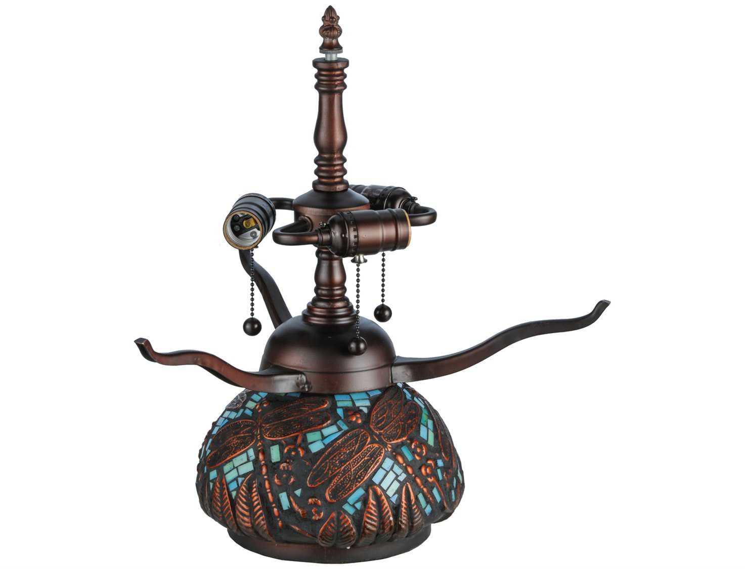 Meyda Tiffany Dragonfly Mosaic Table Lamp Base 20036