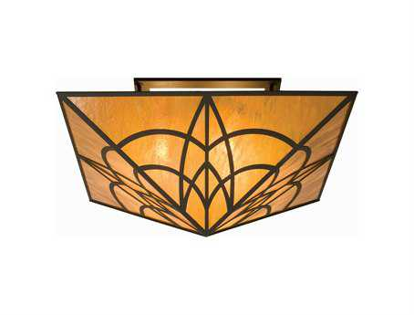 Meyda Tiffany Scottsdale Mission Four-Light Flush Mount Light