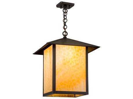 Meyda Tiffany Symbol For Wood Inverted Four-Light Pendant