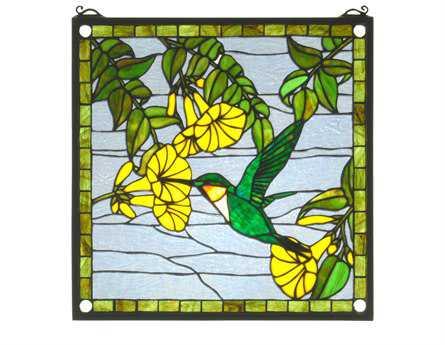 Meyda Tiffany Hummingbird Stained Glass Window