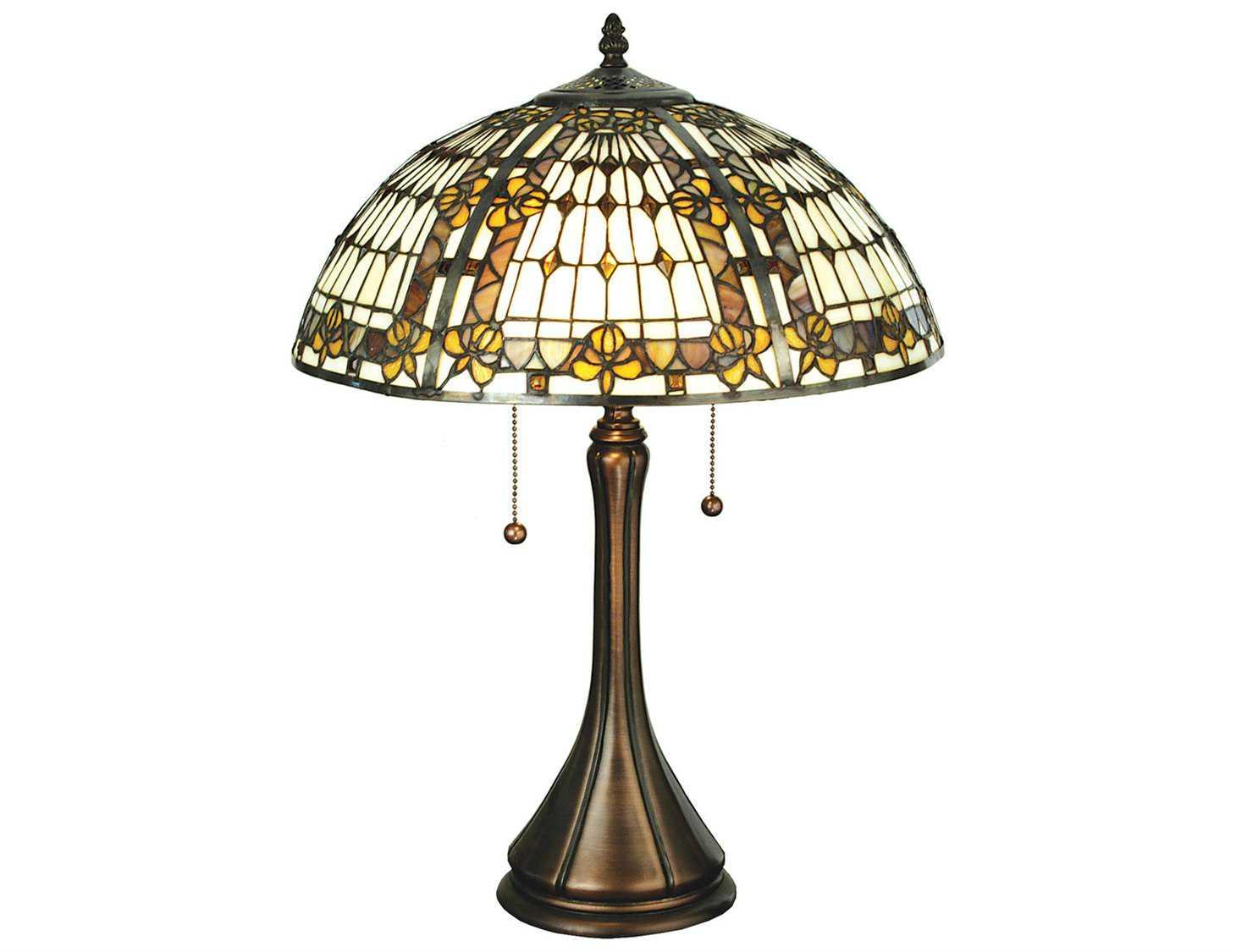meyda tiffany fleur de lis multi color table lamp 27031. Black Bedroom Furniture Sets. Home Design Ideas