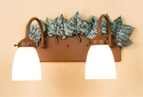 Meyda Tiffany Maple Leaf Two-Light Wall Sconce