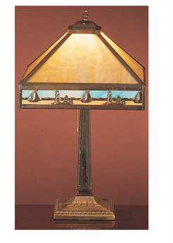 Meyda Tiffany Sailboat Mission Beige Table Lamp
