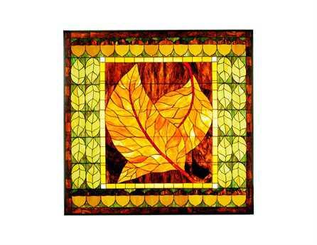 Meyda Tiffany Harvest Festival Stained Glass Window