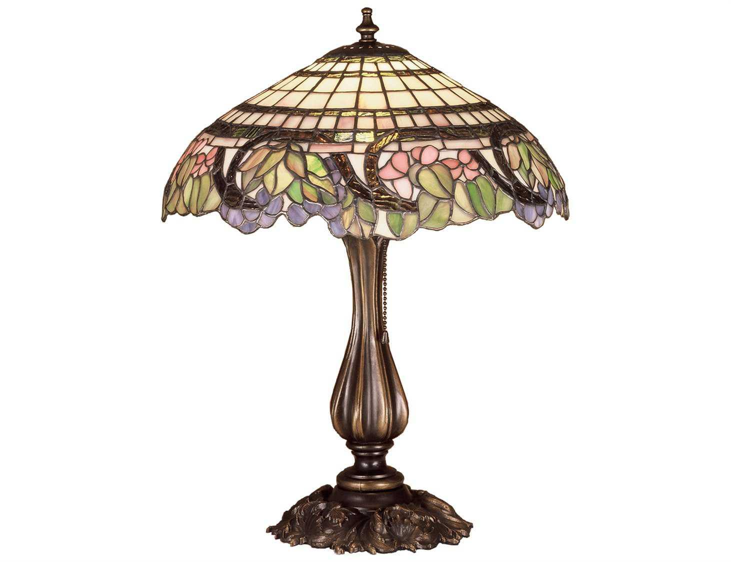 meyda tiffany handel grapevine multi color table lamp 38516. Black Bedroom Furniture Sets. Home Design Ideas