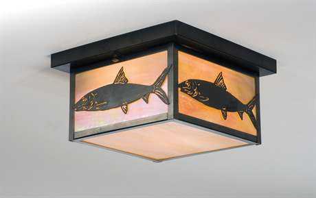 Meyda Tiffany Bonefish Two-Light Flush Mount Light